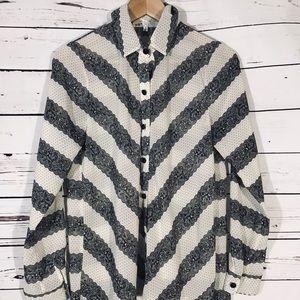 Jolt Woman Lace Look Sheer Top Blouse Shirt Sz M